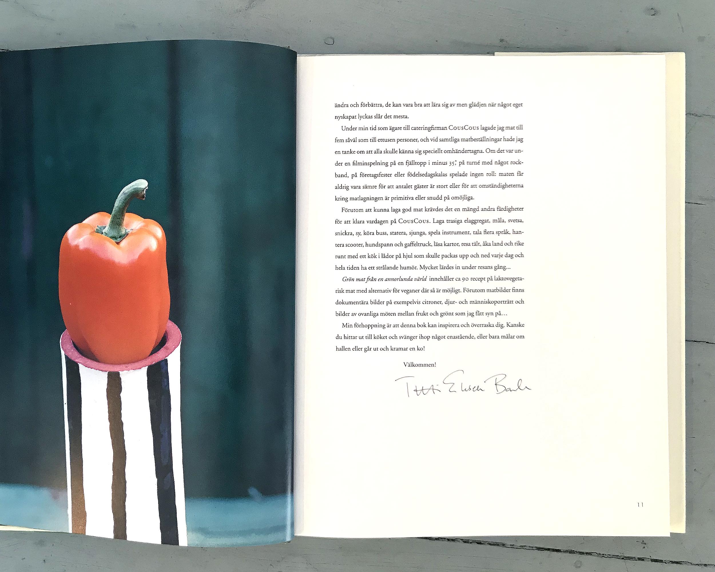 Kokboken Grön mat av Titti Erksell Barker.